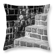 Bright Steps Dark Wall Throw Pillow