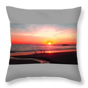 Bright Sunset Throw Pillow