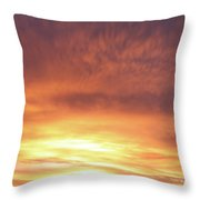 Bright Sunset Throw Pillow