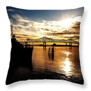 Bright Time On The River Throw Pillow