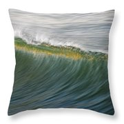 Bright Wave Throw Pillow