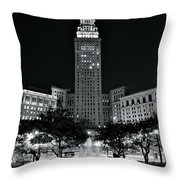 Bright White Lights At Night Throw Pillow