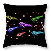 Brightcolorfishes Throw Pillow