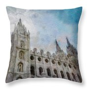 Brightly Beams Throw Pillow