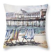 Brighton England Throw Pillow