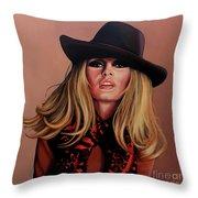 Brigitte Bardot Painting 1 Throw Pillow