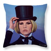 Brigitte Bardot Painting 2 Throw Pillow