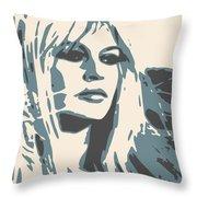 Brigitte Bardot Poster 2 Throw Pillow