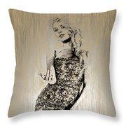 Brigitte Bardot Sketch Throw Pillow