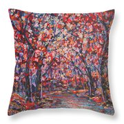 Brilliant Autumn. Throw Pillow