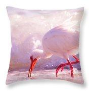 Brilliant Beauty Cortez Beach Throw Pillow