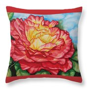 Brilliant Bloom Throw Pillow