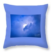 Brilliant Blue Cloud Formation With Sun Glow Throw Pillow