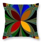 Brilliant Colors Throw Pillow