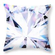 Brilliant Diamond  Throw Pillow