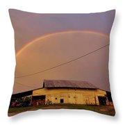 Brilliant Evening Double Rainbow Throw Pillow