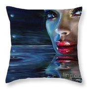 Brilliant Eyes Water Throw Pillow