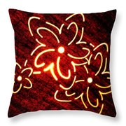 Brilliant Floral Abstract Throw Pillow