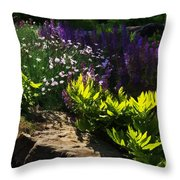 Brilliant Green Sunshine - Impressions Of Spring Throw Pillow