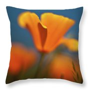 Brilliant Poppy Throw Pillow