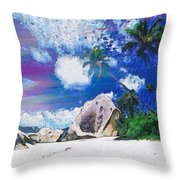 Brilliant Skyline In The Array Int The Mix Throw Pillow