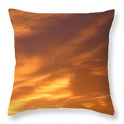 Brilliant Spring Sky Throw Pillow