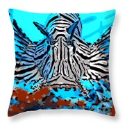 Brilliant Stripes Throw Pillow by George Pedro