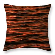Brilliant Sunrise On The Lake Throw Pillow
