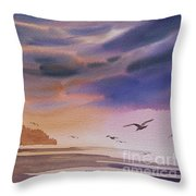 Brilliant Sunset Throw Pillow