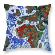 Brilliant World - Middle Panel Throw Pillow