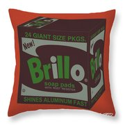 Brillo Box Colored 1 - Warhol Inspired Throw Pillow