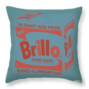 Brillo Box Colored 15 - Warhol Inspired Throw Pillow