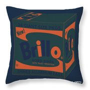 Brillo Box Colored 6 - Warhol Inspired Throw Pillow