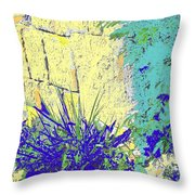 Brimstone Blue Throw Pillow