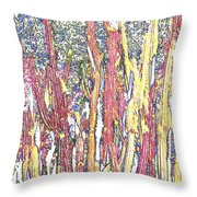 Brimstone Forest Throw Pillow