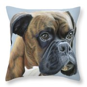 Brindle Boxer Dog - Jack Throw Pillow