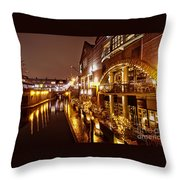 Brindleyplace At Night Throw Pillow