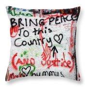 Bring Peace Throw Pillow