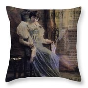 Bring Up The Curtain Throw Pillow