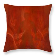 Bringer Of The Flames Throw Pillow