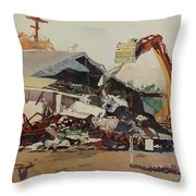 Bringing Down The House Throw Pillow