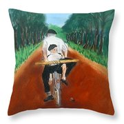 Bringing Home The Daily Bread Throw Pillow