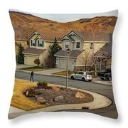 Bringing Home The Mail Throw Pillow