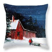 Liberty - Bringing Home The Tree Throw Pillow