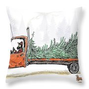 Bringing Home To The Mrs. Throw Pillow