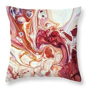 Bringing Into Life Fragment 2. Fluid Acrylic Painting Throw Pillow