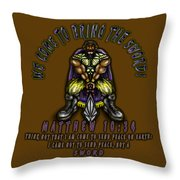 Bringing The Sword Throw Pillow