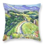 Briones Crest In May, Lafayette, Ca Throw Pillow