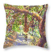Briones Forest Near Springhill Road Throw Pillow