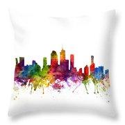 Brisbane Australia Cityscape 06 Throw Pillow